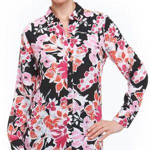 CLEARANCE! Foxcroft L/S Floral Button Down Blouse